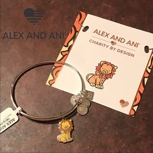 Alex and Ani Lion Bangle